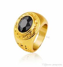 2018 new design hot sale hip hop men s ring fashion gold