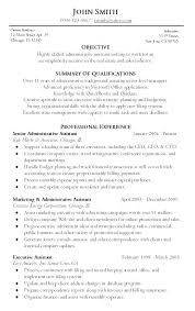 sample of an administrative assistant resume resume examples free