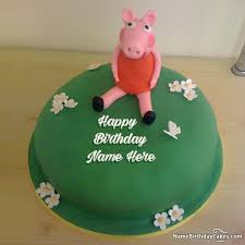 peppa pig birthday cake with name and photo birthday cards with