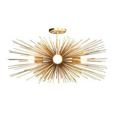 gold ceiling light fixtures urchin chandeliers