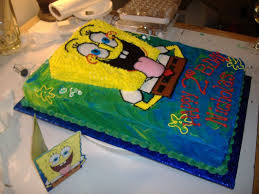 sponge bob birthday cake for a 2 year old cakecentral com