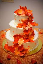 fall wedding cakes reception inspiration fall wedding cakes featuring autumn leaves