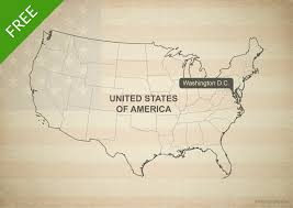 Map Of United States Vector by Vector Map Of United States Of America One Stop Map