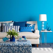 Living Room  Top Blue Color Living Room Interior Design For Home - Blue color living room