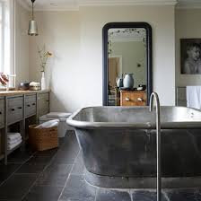 Period Style Bathroom Ideas Housetohome Co Uk by Industrial Style Bathroom With Large Tin Finish Bath Modern