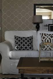 wallpaper accent wall living room
