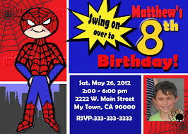 spiderman invitations template best template collection