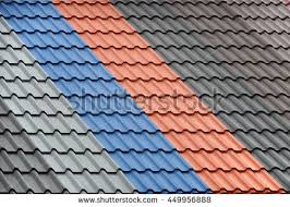 Metal Roof Tiles Architectural Background Texture Metal Roof Tiles Stock Photo