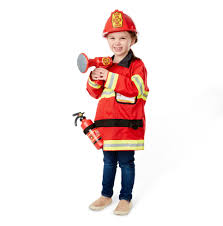 Halloween Costumes Girls Age 8 Amazon Melissa U0026 Doug Fire Chief Role Play Costume Dress