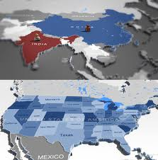 World Map United States by 3d World Map And Usa Map Cgtrader
