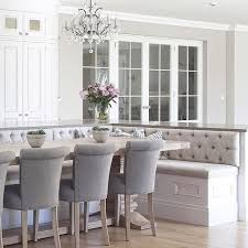 Banquet Or Banquette Curved Cabinetry Triple Buttoned Banquette Seating And Glazed