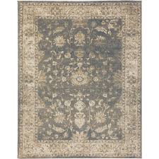 Home Depot Decorators Collection Home Decorators Collection Old Treasures Blue Cream 7 Ft 10 In X