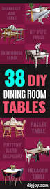 3 Perfect Ideas To Create 38 Diy Dining Room Tables Diy Joy