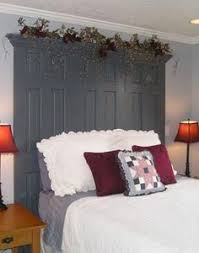 Unique Headboard Easy Headboard 2 Doors From Lowes 22 00 Each Painted And Topped
