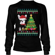 frenchie ugly christmas sweater