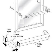 Alumax Shower Door Parts Framed Sliding Shower Door Chrome Towel Bar With Clear Acrylic