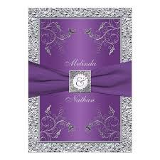 purple and silver wedding purple and silver wedding invitations 15488