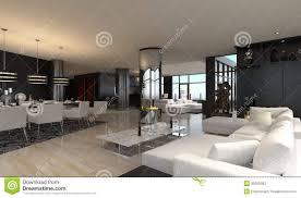 Loft Modern Modern Living Room Interior Design Loft Stock Photography
