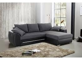 canapé d angle noir et gris canapé d angle basel avec fonction lit similicuir tissu noir gris