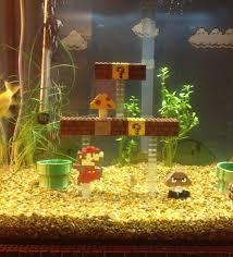retrofied mario lego aquarium decorations mario aquarium
