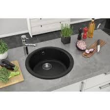 evier rond cuisine évier de cuisine rond à encastrer mirade 1 cuve couleur noir