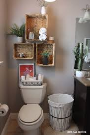 Hanging Baskets For Bathroom Storage Bathroom Shelves With A Twist Sponsored Pin Redo All The