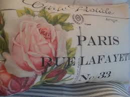 Shabby Chic Cushions by Old Cabbage Roses Rue Lafayette Carte Postale Shabby Chic French
