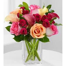 Roses And Lilies Of Love Rose U0026 Calla Lily Bouquet