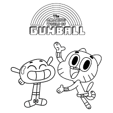 amazing world of gumball coloring pages getcoloringpages com