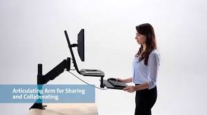 Stand To Sit Desk by Kensington Smartfit R Sit Stand Workstation Video Youtube
