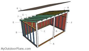 Diy Shed Free Plans by Free Run In Shed Plans Myoutdoorplans Free Woodworking Plans