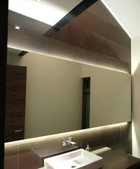bathroom mirrors with lights behind bathroom mirrors lights behind the mirror in place enough light to