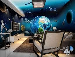 3d wall murals page 7 idecoroom 3d earth view satellite universe entire room wallpaper wall murals art prints idcqw 000127