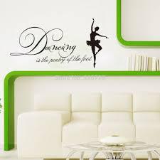 English Home Decoration Aliexpress Com Buy 55 28cm Dancing Wall Stickers
