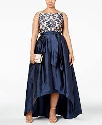 adrianna papell plus size embroidered lace ball gown dresses