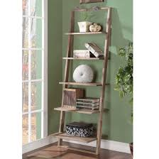 Ladder Bookcase White by Cool Tall Narrow White Leaning Ladder Wall Shelf Decofurnish