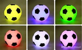 online cheap 7colour football night light color changed led
