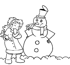 winter coloring pages snowman winter coloring pages of