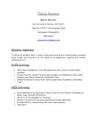 Modern Day Resume Format Dance Resume Format Template Design