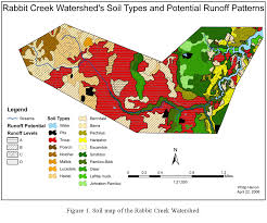 soil map analysis of soil types in the rabbit creek sub watershed