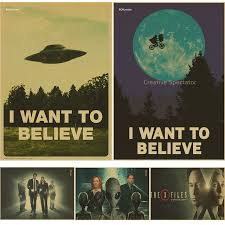 believe home decor x files i want to believe vintage poster wall paper home decor