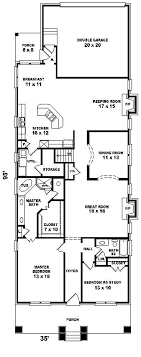 house plans narrow lot home architecture beautiful cottage houseplans at best narrow