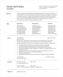 Civil Engineer Resume Sample Pdf 12 simple fresher resume templates free u0026 premium templates