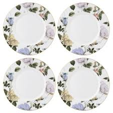 ted baker portmeirion rosie white set of 4 dinner plates