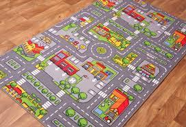Kid Play Rugs 35 Road Rug Childrens Rugs Road Map Playmat Rug Buy