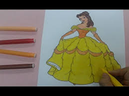 disney princess coloring pages color princess belle