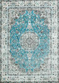 Area Rugs Victoria by Blue Oriental Rug Medallion Distressed Design Discount Area