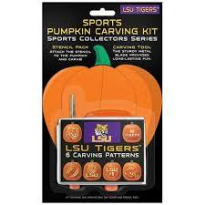 pumpkin carving kits lsu tigers pumpkin carving kit fanatics