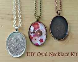 diy glass pendant necklace images Pendant necklace kits quality settings and jewelry supplies jpg