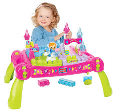 mega bloks first builders table bloks first builders fold and go fairytale table 50 pcs multi color